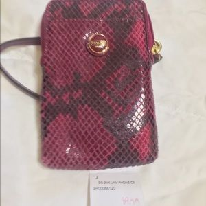 Coach purse with accessories
